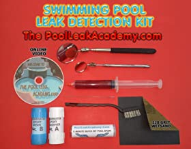 SWIMMING POOL LEAK DETECTION DYE TEST SYRINGE AND UNDERWATER REPAIR KIT