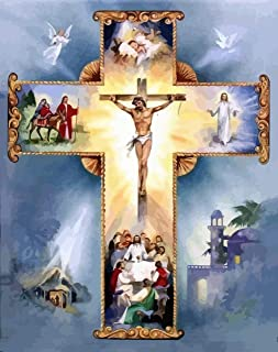 Jigsaw Puzzle 1000 Piece Adult Game Wooden Puzzle 3D DIY Cross Jesus Collectibles Art Scenery Animals Home Decorations Children Old People Couples