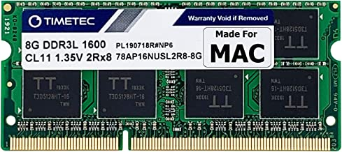 Timetec Hynix IC Compatible with Apple 8GB DDR3 1600MHz PC3-12800 SODIMM Memory Upgrade For MacBook Pro, iMac, Mac Mini/Server