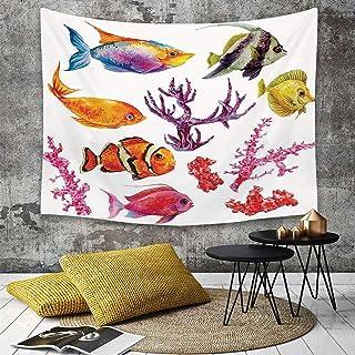 ديكور المحيط، تصوير، بسبب، الأسماك الاستوائية، الطحلب من البحر.، الطحالب المرجانية، أيضا، القناديل في البحر.