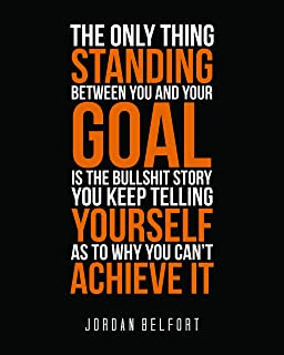 176954dff3d3 My Vinyl Story Jordan Belfort Motivational Inspirational Wall Art Posters  Print Quote Decor for Home Gym