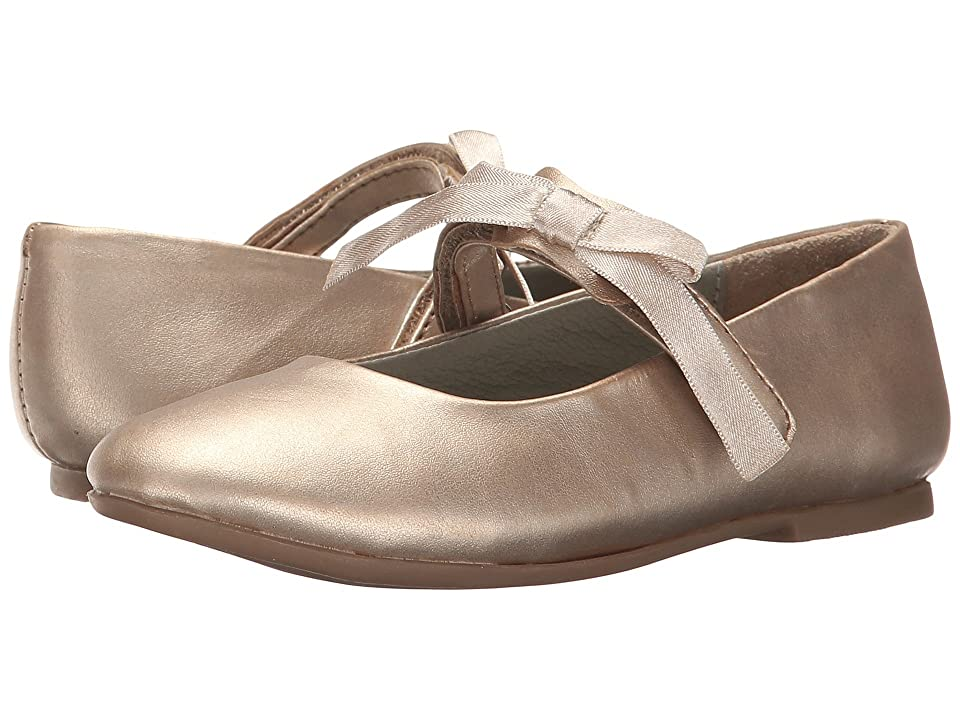 Pazitos Classic Ballerina MJ PU (Toddler/Little Kid) (Gold Metallic) Girls Shoes