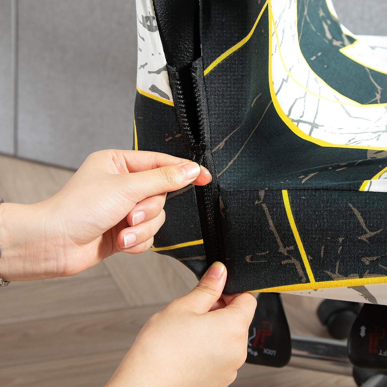 Jodimitty Funda de Silla de Oficina Funda para Silla de Ordenador Escritorio Cubre Silla Giratoria de Computadora Cubierta Protectora para Ordenador Universal