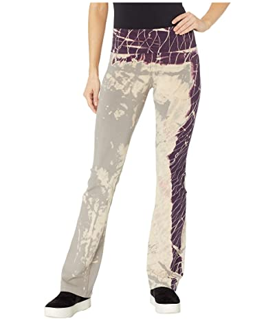 Hard Tail Rolldown Bootleg Flare Pants (Diagonal Butterfly Wash 4) Women