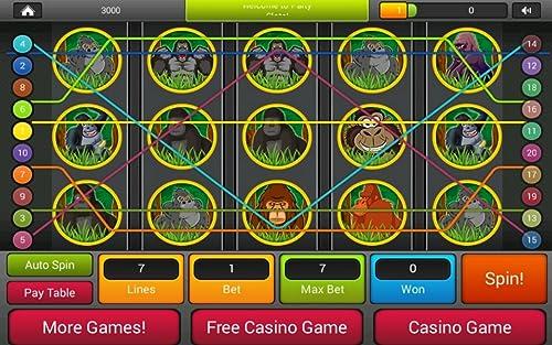 『ゴリラの王国スロット - ラスベガスファンタジースロットマシンゲーム無料プレイ』の7枚目の画像