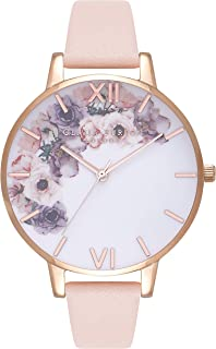 Olivia Burton Watercolour Florals White Dial Ladies Watch OB16PP30