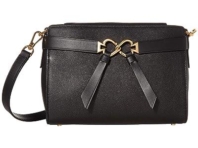 Kate Spade New York Toujours Medium Crossbody (Black) Bags