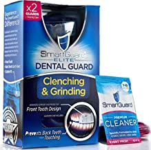 SmartGuard Elite Dental Guard (2 Guards) + Storage Case & 2 Months of Cleaning Crystals – TMJ Dentist Designed Night Guard for Clenching & Grinding. Made in USA