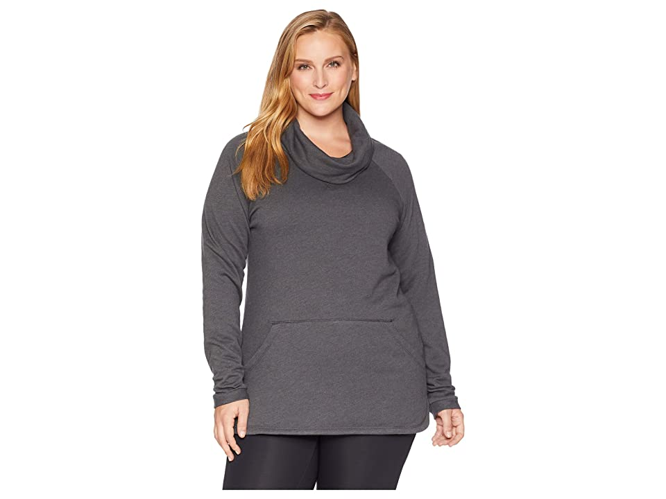 Columbia Plus Size Weekend Wanderertm Pullover (Charcoal Heather) Women