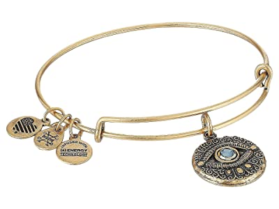 Alex and Ani Evil Eye Bangle (Rafaelian Gold) Bracelet