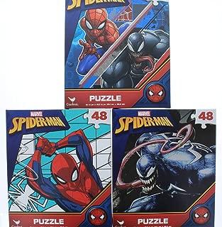 3 Pk. Marvel Spider-Man 48 Piece Jigsaw Puzzle (Assorted Designs)