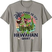 This Is My Hawaiian Shirt Tropical Dinosaur T-Rex Summer T-Shirt