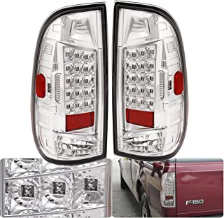 AJP Distributors LED Tail Light Lamp For Ford F150 F250 F350 Style Side (Chrome)