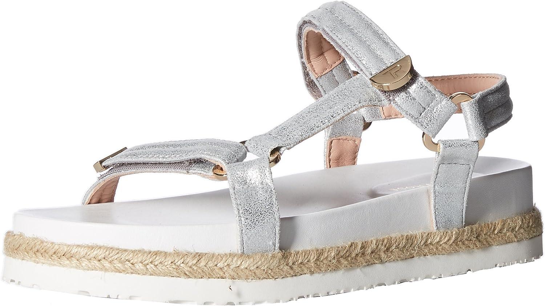 Taryn pink Womens Lydia Metallic Nappa Flat Sandal