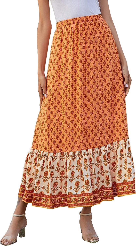 Vintage Skirts | Retro, Pencil, Swing, Boho Milumia Womens Boho Vintage Floral Print Tie Waist A Line Maxi Skirts $24.99 AT vintagedancer.com