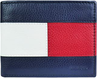 Tommy Hilfiger Men's Leather Orson RFID Bifold Wallet with Removable Passcase