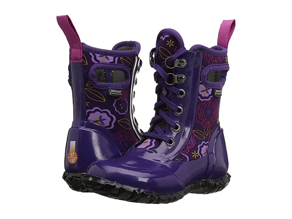 Bogs Kids Sidney Lace Posey (Toddler/Little Kid/Big Kid) (Posey Grape Multi) Girls Shoes