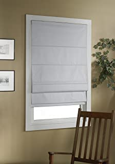 Green Mountain Vista Thermal Blackout Cordless Roman Shade, 32 by 63-Inch, White
