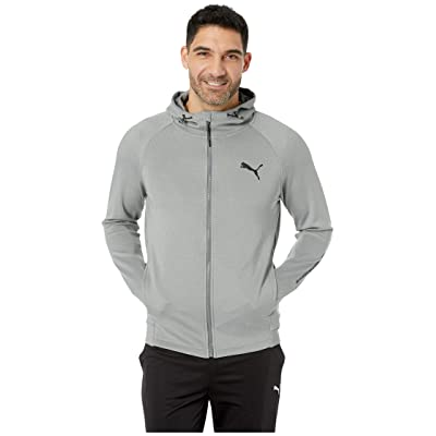 PUMA Tec Sports Full Zip Hoodie (Medium Grey Heather) Men