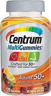 Centrum MultiGummies Adults (120 Count, Natural Cherry, Berry, Orange Flavor) Multivitamin/Multimineral Supplement Gummies...