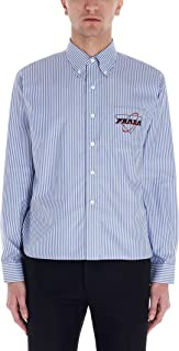 PRADA Luxury Fashion Mens UCN274S2011WD9F0016 Light Blue Shirt |