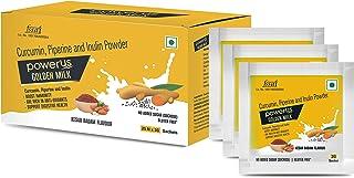Powerus Golden Milk, Latte Mix, Kesar Badam Flavour, Immunity Booster, Digestive Powder, Gulten-Free, Sugar-Free (25 Sache...