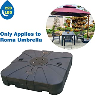 ABCCANOPY Super Heavy Base Roma Umbrella Base only Suit Roma Umbrella Sand Water Filled 220lb…