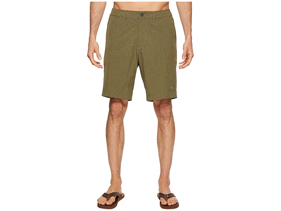 Tommy Bahama Cayman Isles 9-inch Hybrid Swim Trunk (Winter Moss) Men