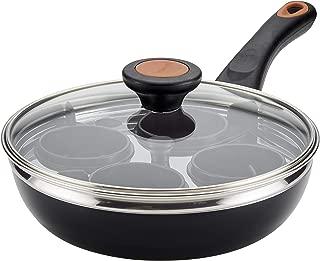 Farberware Glide Copper Ceramic Nonstick Covered Egg Poacher, 8-Inch, Black - 10654