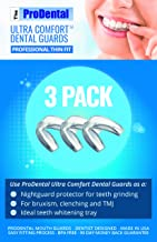 ProDental Thin and Trim Mouth Guard for Grinding Teeth – 3 Pack, Made in USA   Night Guard Stops Bruxism - Teeth Clenching   Use as Customizable Teeth Whitening Dental Guard   FDA Approved Material