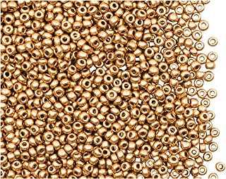 0.70oz (20 Grams) 11/0 Preciosa Czech Glass Seed Beads, Aztec Gold