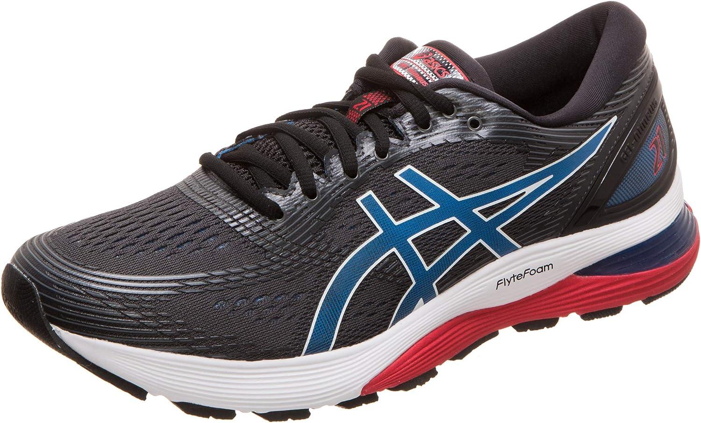 Asics Men's Gel-Nimbus 21 Running Max 80% OFF Electric Many popular brands Blue Shoes 00 Black