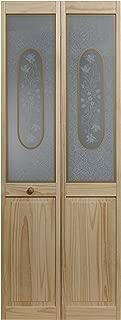 Pinecroft 812728 Elizabthian Half Glass Bifold Interior Wood Door, 32