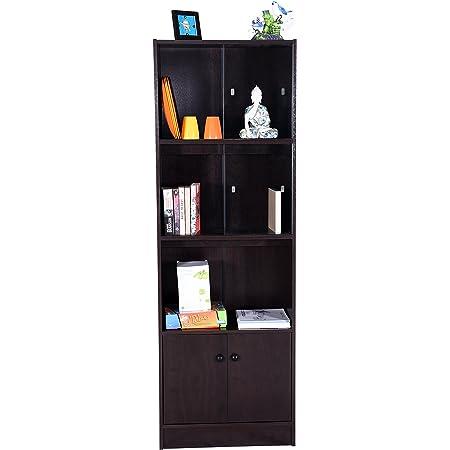 Craftos Eva Engineered Wood Book Shelf and Storage / Display Unit (Dark Wenge, Matte Finish)