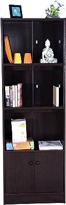DeckUp Cove Book Shelf/Display Unit (Dark Wenge, Matte Finish)
