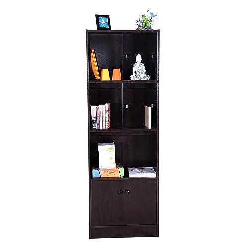 DeckUp Cove Bookshelf (Dark Wenge, Matte Finish)