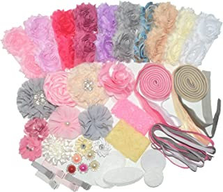 BERON 64 Pcs Headbands and Clips DIY Headand Kit Party Supplies for DIY Hair Bow Maker - Paris Inspired Collection(AIH0235-1)