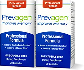 Prevagen Improves Memory - Professional Strength 40mg, 30 Capsules |2 Pack| with Apoaequorin & Vitamin D | Brain Supplemen...