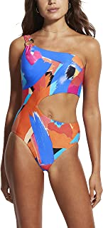 Seafolly Women's Shoulder Cut Out One Piece Swimsuit