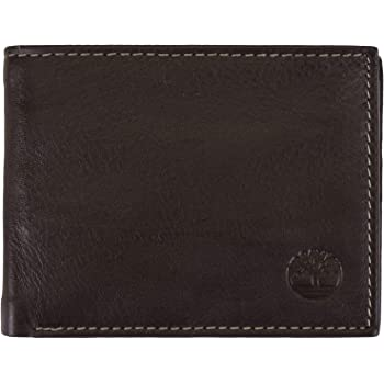 Timberland Men's Wellington RFID Leather Bifold Wallet Trifold Wallet Hybrid