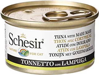 Schesir Cat Can Tuna with Mahi ,Wet food in Jelly for Cats 85g