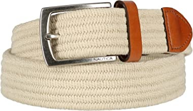 Nautica Men's Stretch Braided Fabric Belt