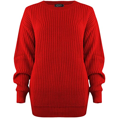 SA Fashions Oversized Ladies Womens Chunky Baggy Jumper Knitted Sweater  Thick Top S-XL 8 eccb07d32