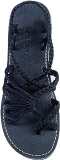 Capana Criss Cross Summer Hand-Woven Rope Flat Sandals for Women Banyan