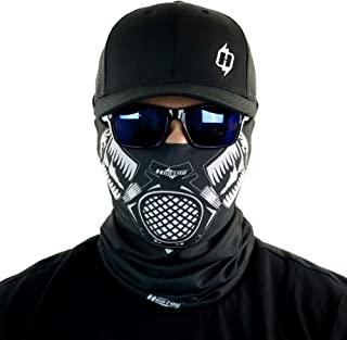 Gas Mask Bandana Face Mask Sun Shield Can Be Worn Over 10 Different Ways 100%