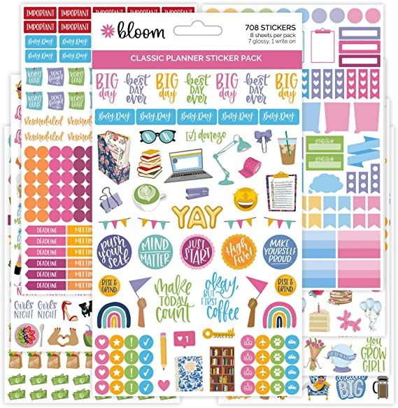 bloom daily planners Classic Planner Sticker Sheets