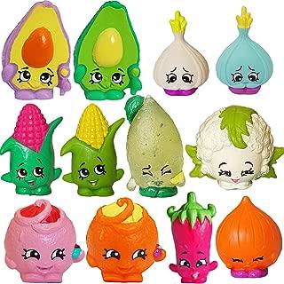 SHOPKINS Season 2 FRUIT & VEG SET of 12 - Sour Lemon, Corny Cob, Dippy Avocado, Chloe Flower, Juicy Orange, Silly Chilli, Garlic Rose, Boo-Hoo Onion, Genuine Moose