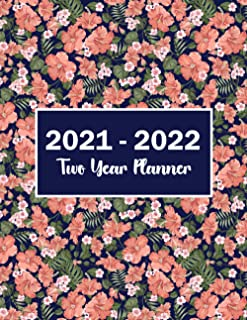 Sponsored Ad - 2021-2022 Two Year Planner: Flower Watecolor Cover | Monthly Planner 2021-2022 | 2 Year Calendar 2021-2022 ...