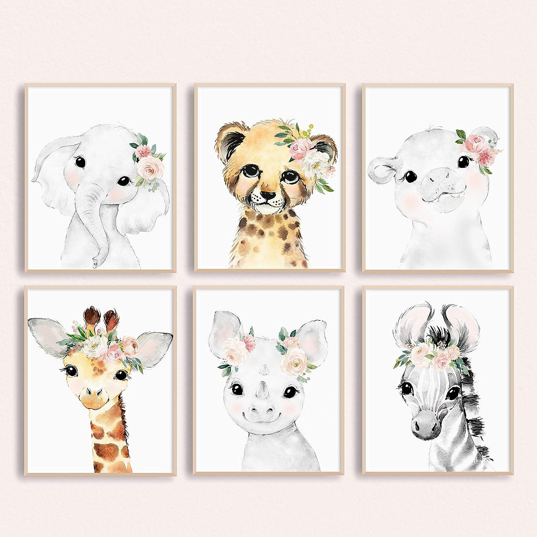 Baby Nursery Wall Art Safari Animals