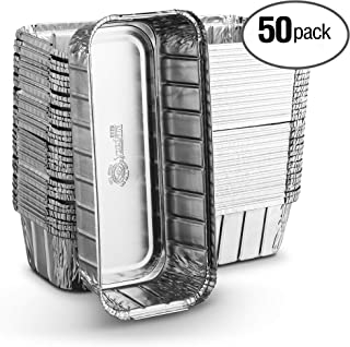 [50 Pack - 3lb Loaf Size ] Propack Disposable Aluminum Foil Meal Prep Cookware Loaf Pans 10.5